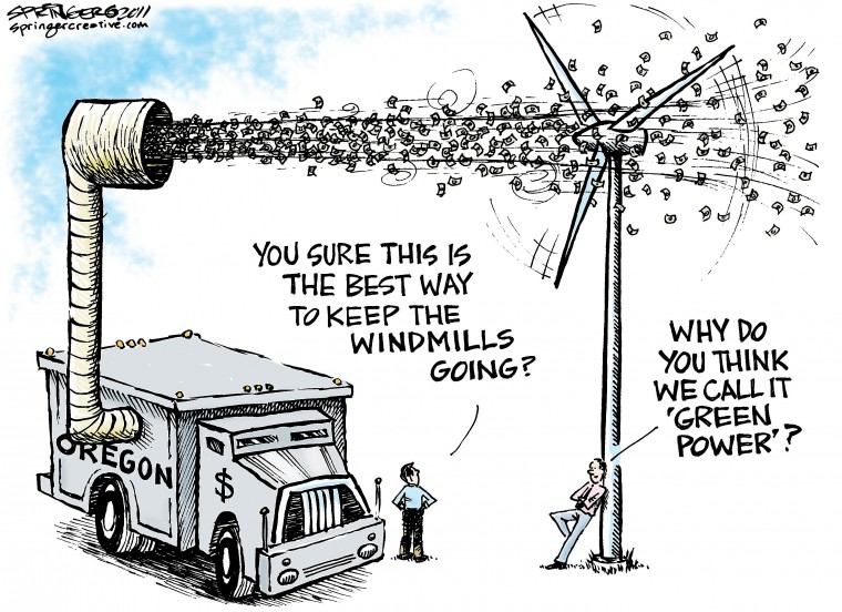 Green Energy Cartoon